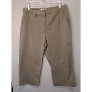 Chico's Cropped Khaki Trousers Size 2